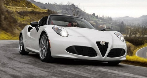 l alfa romeo 4c spider sous les projecteurs blog. Black Bedroom Furniture Sets. Home Design Ideas
