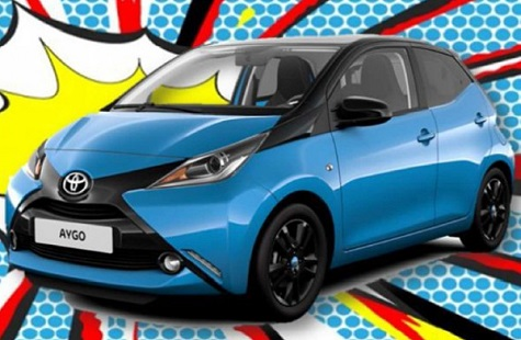 toyota aygo bleu cyan nouvelle s rie limit e blog. Black Bedroom Furniture Sets. Home Design Ideas