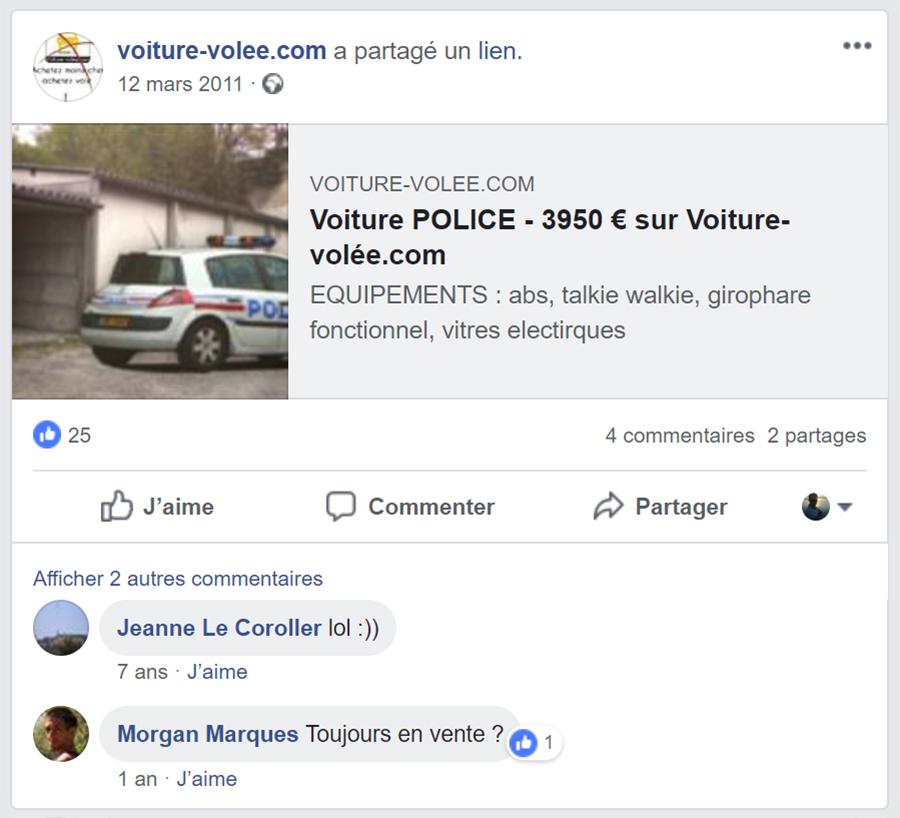 Facebook de voiture-volee.com