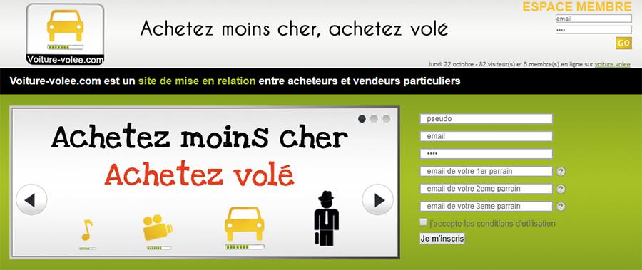Page principale de voiture-volee.com
