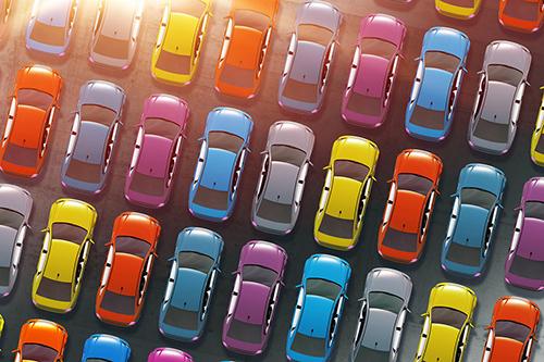 Les mandataires disposent souvent d'un large stock de véhicules
