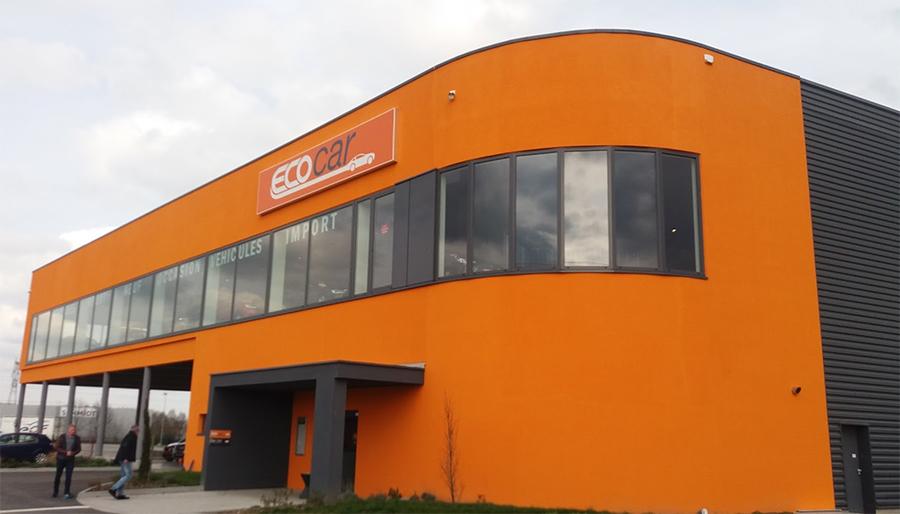 Les locaux d'Ecocar près de Colmar (68)