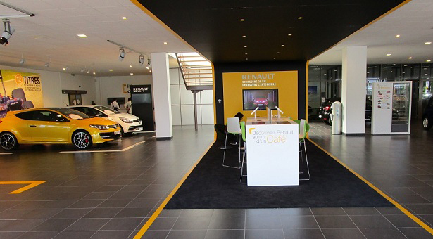 Le showroom d'une agence Renault Retail Group