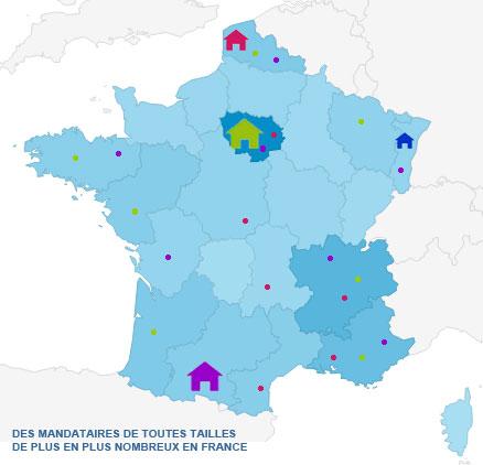Le fort développement des mandataires en France
