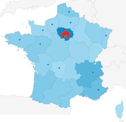 un afflux de mandataire en région parisienne
