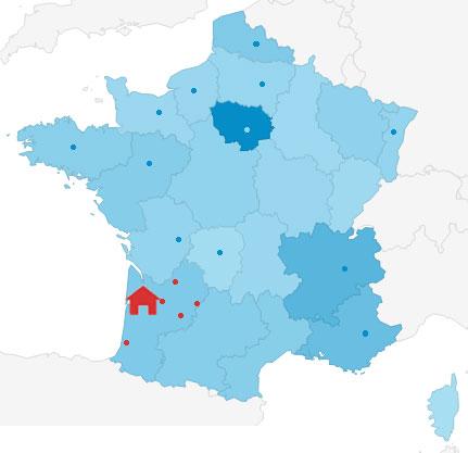 les nombreux mandataires en région bordelaise