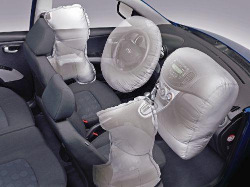 Airbags frontaux et latéraux déployés