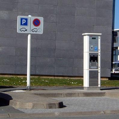 Borne de rechargement pour véhicule électrique