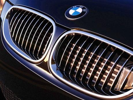 La double calandre typique d'une auto BMW