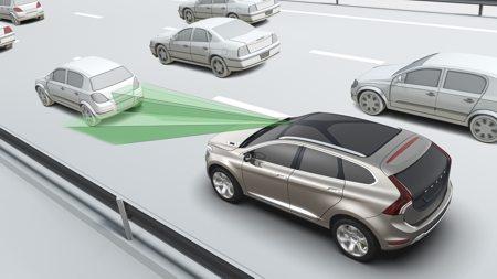 Le City Safety prévient contre les collisions par l'arrière