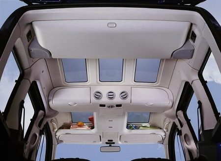 Le plafond d'un Citroën Berlingo avec Modutop