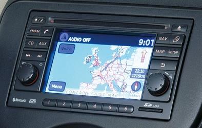 Le Nissan Connect dans sa fonction GPS