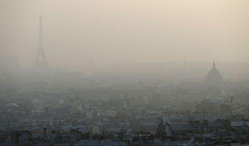 Ville de Paris lors d'un pic de pollution
