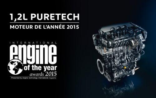 Le 1.2l PureTech a été élu moteur de l'année 2015
