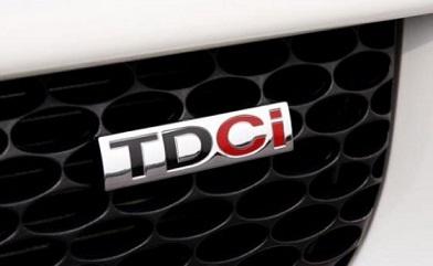 """Le badge """"TDCi"""" sur un véhicule Ford"""