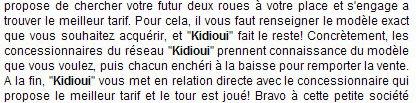 article de Caradisiac sur Kidioui