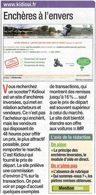 Article du journal Micro Hebdo sur Kidioui